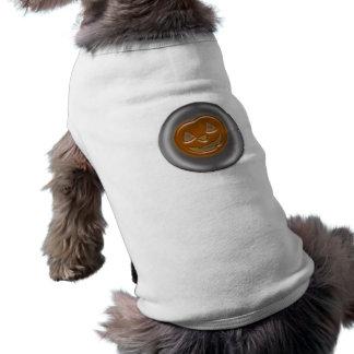 Desenhos animados da abóbora 3D o Dia das Bruxas Camisa Sem Mangas Para Cachorro