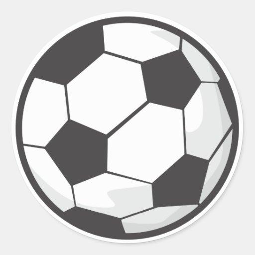 Desenhos animados da bola de futebol adesivo