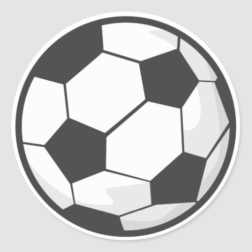 Desenhos animados da bola de futebol adesivos em formato redondos