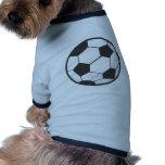 Desenhos animados da bola de futebol roupas para pets