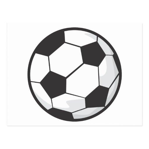 Desenhos animados da bola de futebol cartão postal
