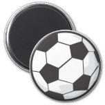 Desenhos animados da bola de futebol imãs de refrigerador