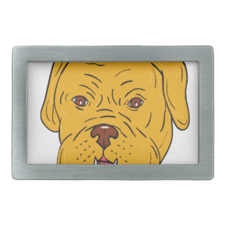 Desenhos animados da cabeça de cão do Bordéus
