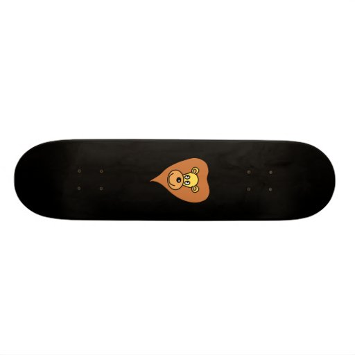 Desenhos animados da cara do leão skate boards