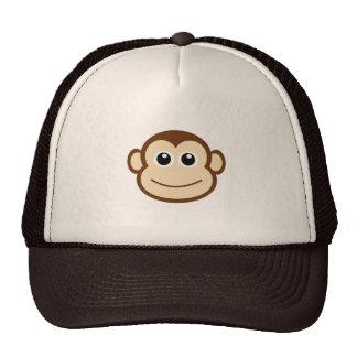 Desenhos animados da cara do macaco bonés