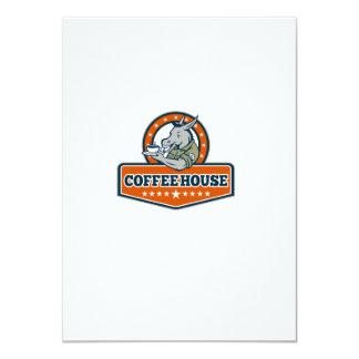 Desenhos animados da casa do café do sargento de convite 11.30 x 15.87cm