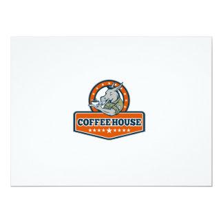 Desenhos animados da casa do café do sargento de convite 16.51 x 22.22cm