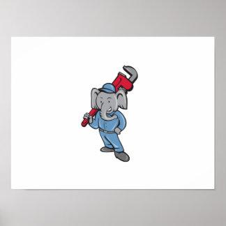 Desenhos animados da chave de macaco do pôster