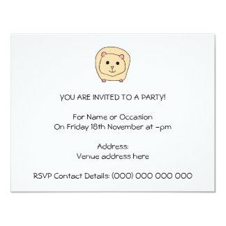 Desenhos animados da cobaia convite personalizados