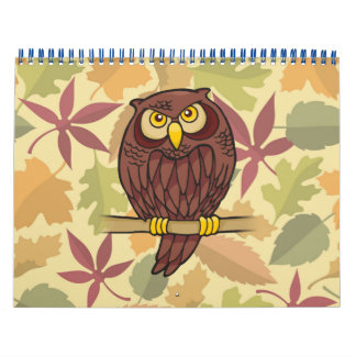 Desenhos animados da coruja calendário