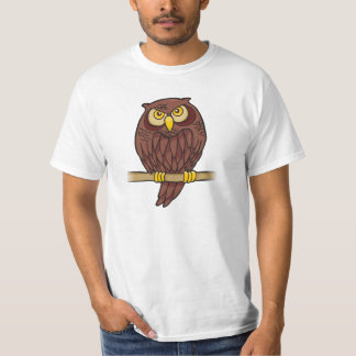 Desenhos animados da coruja camiseta