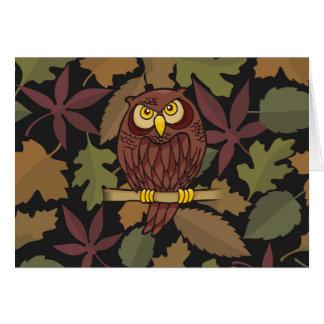 Desenhos animados da coruja cartão comemorativo