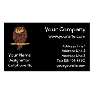 Desenhos animados da coruja cartão de visita