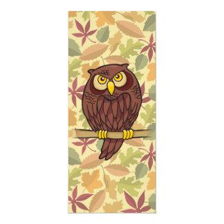 Desenhos animados da coruja convite 10.16 x 23.49cm