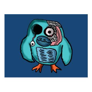 Desenhos animados da coruja do Dia das Bruxas Cartão Postal
