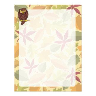 Desenhos animados da coruja flyer 21.59 x 27.94cm