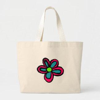 Desenhos animados da flor bolsa para compras