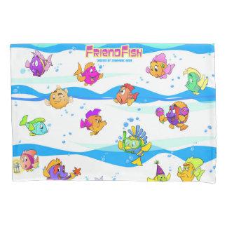 Desenhos animados da fronha de almofada dos peixes