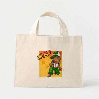 desenhos animados da laranja do verde da menina do bolsa tote mini