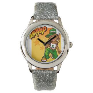 desenhos animados da laranja do verde da menina do relogios de pulso