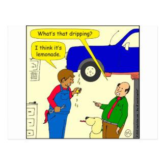 desenhos animados da limonada de 695 carros cartão postal