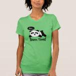 Desenhos animados da panda bonito do sono camiseta