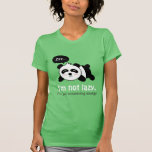Desenhos animados da panda bonito do sono t-shirt