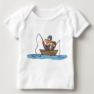 Desenhos animados da pesca do pai e do filho camiseta