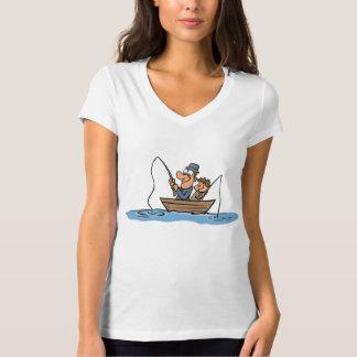 Desenhos animados da pesca do pai e do filho tshirts