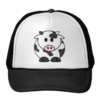 Desenhos animados da vaca de leite bone