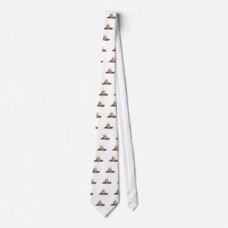 Desenhos animados de escavação da toupeira bonito gravata