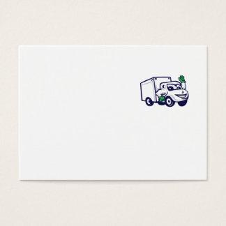 Desenhos animados de ondulação de Van de entrega Cartão De Visitas