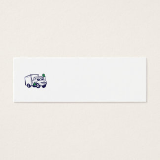 Desenhos animados de ondulação de Van de entrega Cartão De Visitas Mini