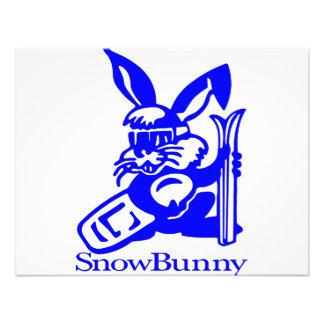 Desenhos animados de SnowBunny Convites Personalizados