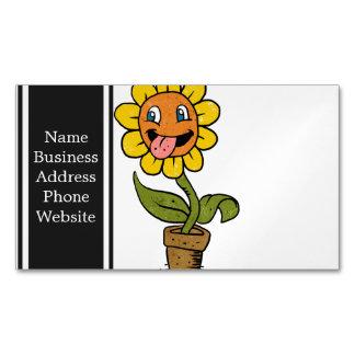 desenhos animados de sorriso da flor