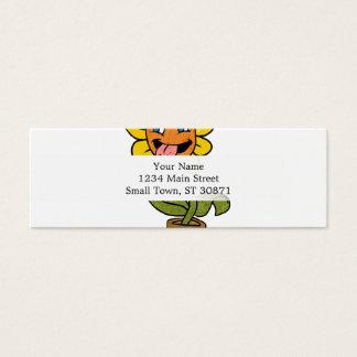 desenhos animados de sorriso da flor cartão de visitas mini