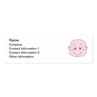 Desenhos animados de um bebê bonito, sorrindo cartão de visita skinny