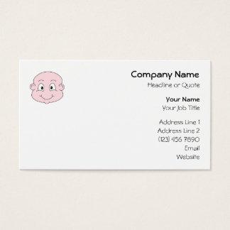 Desenhos animados de um bebê bonito, sorrindo cartão de visitas