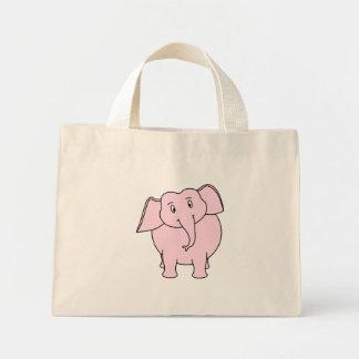 Desenhos animados de um elefante cor-de-rosa bolsas