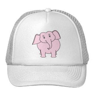 Desenhos animados de um elefante cor-de-rosa bone