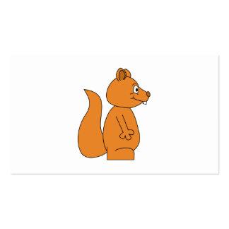 Desenhos animados de um esquilo vermelho modelo cartões de visita