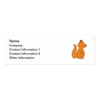 Desenhos animados de um esquilo vermelho cartão de visita