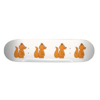 Desenhos animados de um esquilo vermelho shape de skate 19,7cm