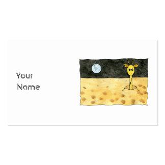 Desenhos animados de um giraffe. perdido cartões de visita