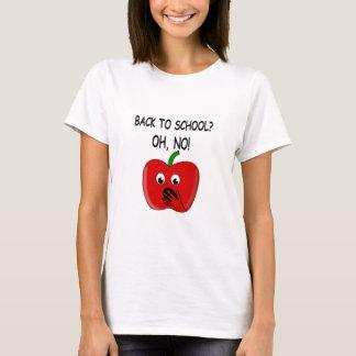 Desenhos animados de volta à escola Apple Camiseta