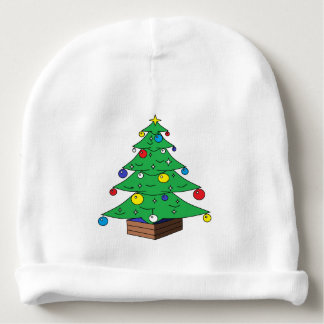 Desenhos animados decorados da árvore de Natal Gorro Para Bebê