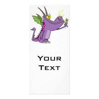 desenhos animados delicados bonitos do dragão 10.16 x 22.86cm panfleto