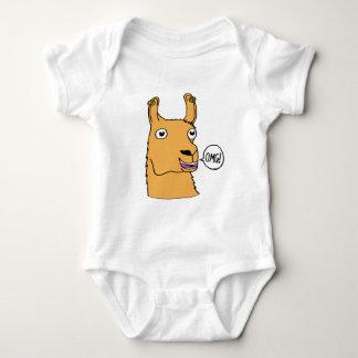 Desenhos animados desenhados mão do lama do drama body para bebê