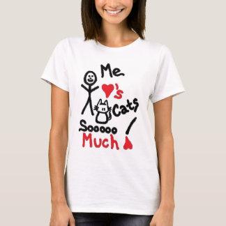 Desenhos animados do amante do gato camiseta