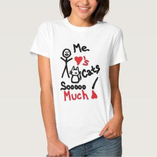 Desenhos animados do amante do gato t-shirts